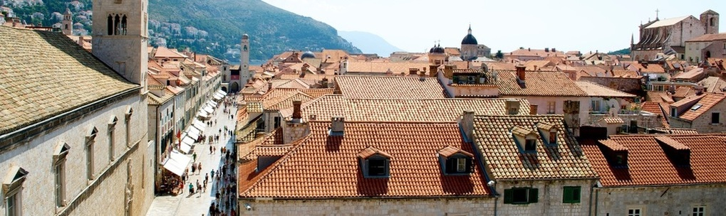 Dubrovnik old town rooftops